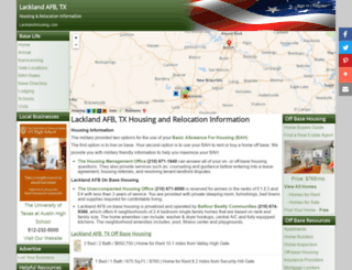 lacklandhousing.com screenshot