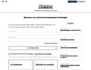 lacorrespondancedelenseigne.com screenshot