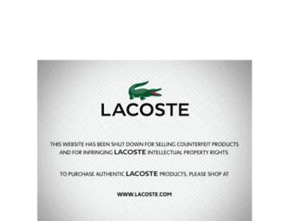 lacostepoloshirtsale.com screenshot