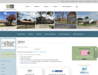 lacrossecountylibrary.org screenshot