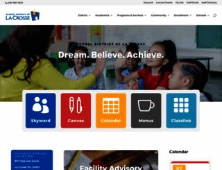 lacrosseschools.org screenshot