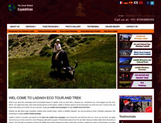 ladakhecotourandtrek.com screenshot