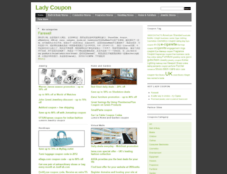 ladycoupon.com screenshot