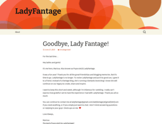 ladyfantage.wordpress.com screenshot