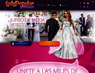 ladypopular.es screenshot