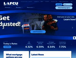 lafcu.com screenshot
