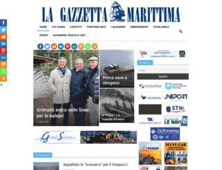lagazzettamarittima.it screenshot