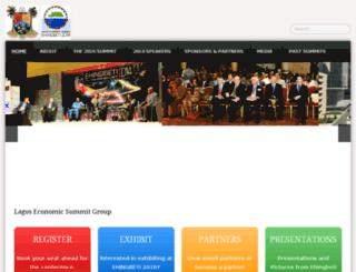 lagoseconomicsummit.org screenshot