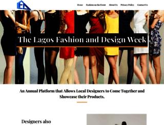 lagosfashionanddesignweek.com screenshot