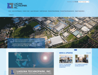 lagunatechnopark.com.ph screenshot