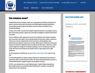 laicitequebec.org screenshot