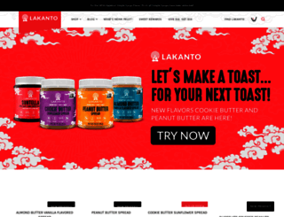 lakanto.com screenshot