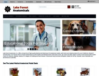 lakeforestanatomicals.com screenshot