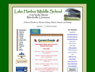 lakeharbormiddle.stpsb.org screenshot
