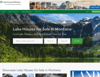 lakehousesofmontana.com screenshot