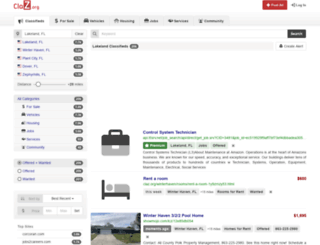 Craigslist Tampa Bay at top.accessify.com