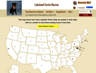 lakelandterrier.rescueme.org screenshot