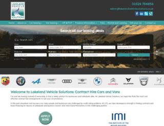 lakelandvehiclesolutions.co.uk screenshot