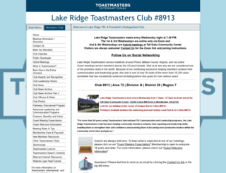 lakeridge.toastmastersclubs.org screenshot