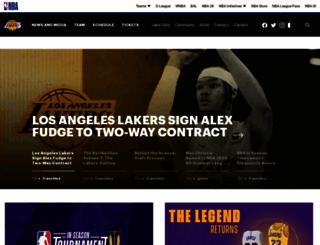 lakers.com screenshot