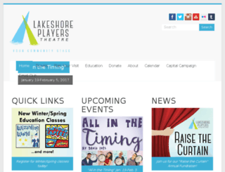 lakeshoreplayers.com screenshot