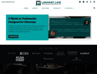 lakhanylaw.com screenshot