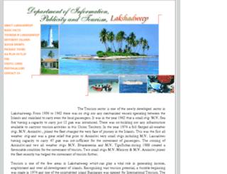 lakshadweeptourism.nic.in screenshot