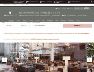 lalivemarriott.com screenshot