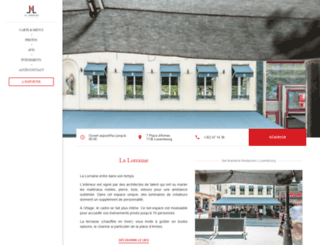 lalorraine-restaurant.lu screenshot