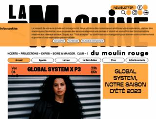 lamachinedumoulinrouge.com screenshot