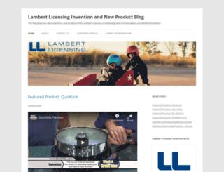 lambertinvent.wordpress.com screenshot