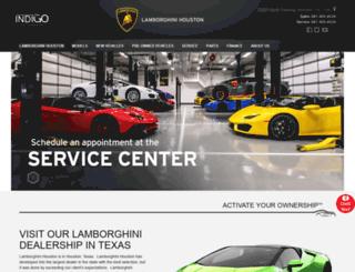lamborghinihouston.com screenshot