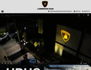 lamborghinimiami.com screenshot