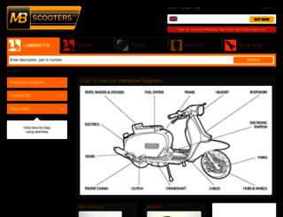 lambrettaspares.com screenshot
