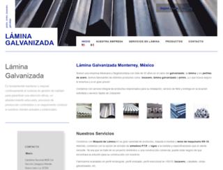 lamina-galvanizada.com screenshot