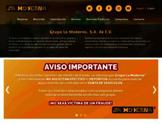 lamoderna.com.mx screenshot