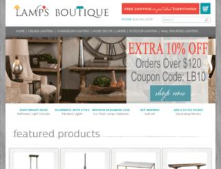 lampsboutique.com screenshot