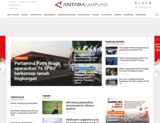 lampung.antaranews.com screenshot