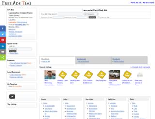 lancaster.freeadstime.org screenshot