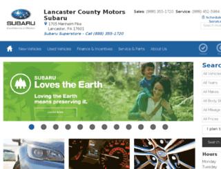 lancaster.subaru.com screenshot