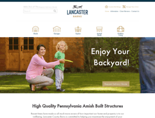 lancasterbarns.com screenshot