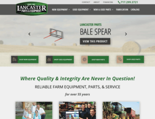 lancasterpartsandequipment.com screenshot