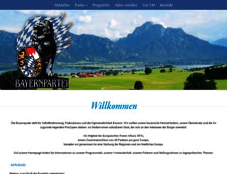 landesverband.bayernpartei.de screenshot