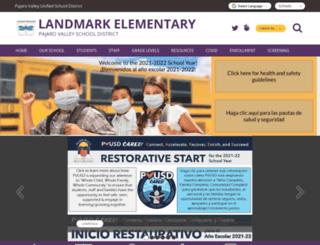 landmark.pvusd.net screenshot