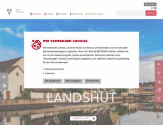 landshut.de screenshot