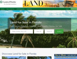 landsofflorida.com screenshot
