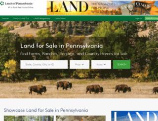 landsofpennsylvania.com screenshot