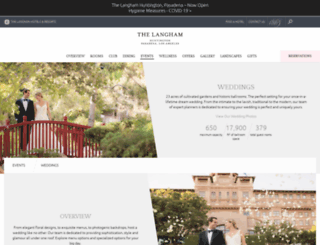 langhamhuntingtonweddings.com screenshot