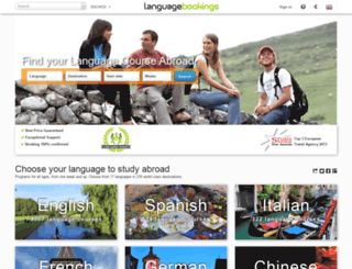 languagebookings.com screenshot