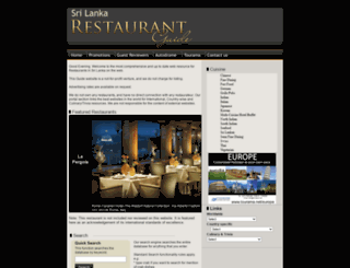 lankarestaurants.com screenshot